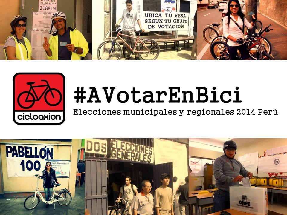 A Votar en Bici – Elecciones municipales y regionales 2014
