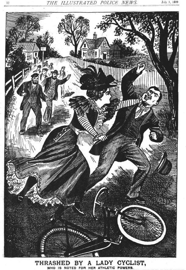 """Trashed by a Lady Cyclist"""