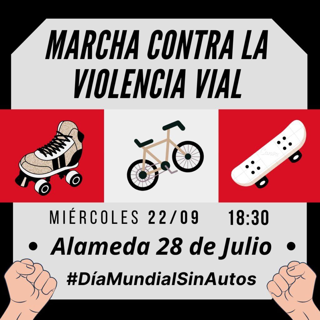 Marcha contra la violencia vial